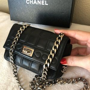 CHANEL RARE Black Leather Reissue Mini Flap Bag